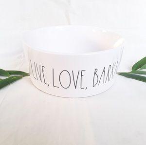 NWT Rae Dunn XL LIVE, LOVE, BARK! dog bowl